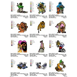 Package Cartoon Disney Embroidery Designs 234