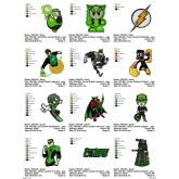 Package Green Lantern Embroidery 112