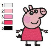 Peppa Pig 01 embroidery design