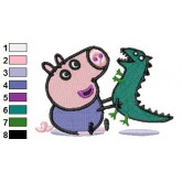 Peppa Pig 02 embroidery design