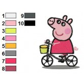 Peppa Pig 06 embroidery design