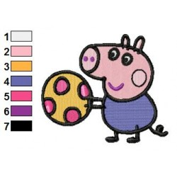 Peppa Pig 07 embroidery design