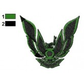 Phoenix Green Lantern Logo Embroidery Design
