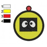 Plex Face Yo Gabba Gabba Embroidery Design