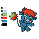 Popples 02 embroidery design