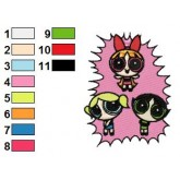 Powerpuff Girls 15 embroidery design