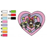 Powerpuff Girls 16 embroidery design