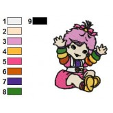 Rainbow Brite 14 embroidery design