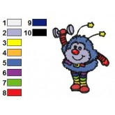 Rainbow Brite 19 embroidery design