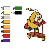 Rainbow Brite 23 embroidery design