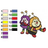 Rainbow Brite 24 embroidery design