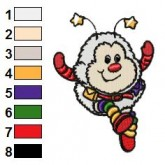 Rainbow Brite 27 embroidery design