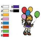 Rainbow Brite 29 embroidery design