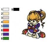 Rainbow Brite 33 embroidery design