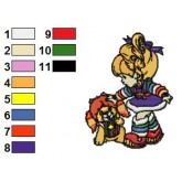 Rainbow Brite 35 embroidery design