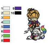 Rainbow Brite 36 embroidery design