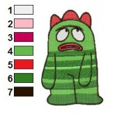 Sad Brobee Yo Gabba Gabba Embroidery Design