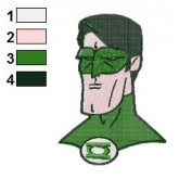 Sepia Green Lantern Embroidery Design