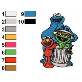 Sesame Street 15 embroidery design