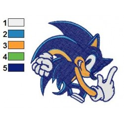 Sonic Embroidery Design 02