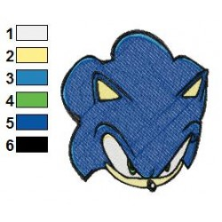 Sonic Face Embroidery Design