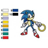 Sonic Holding Ring Embroidery Design