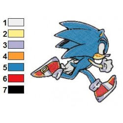 Sonic Running Embroidery Design
