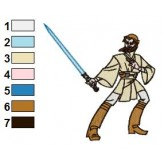Star Wars Obi Wan Kenobi Embroidery Design