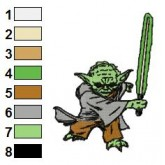 Star Wars Yoda Master 02 Embroidery Design