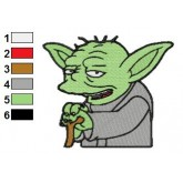Star Wars Yoda Master 05 Embroidery Design