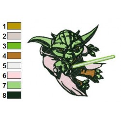 Star Wars Yoda Master 16 Embroidery Design