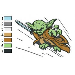 Star Wars Yoda Master 17 Embroidery Design