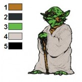 Star Wars Yoda Master Embroidery Design