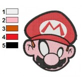 Super Mario Head Embroidery Design