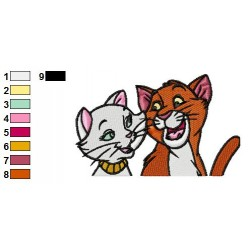 The Aristocats 12 embroidery design