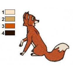 The Fox and the Hound 05 embroidery design