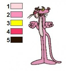 The Pink Panther 02 embroidery design