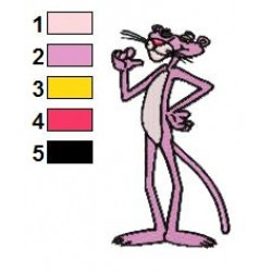 The Pink Panther 04 embroidery design