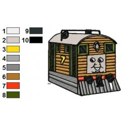 Thomas and Friends 10 embroidery design