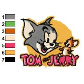 Tom and Jerry full of happy emproidary design