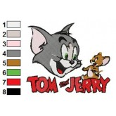 Tom and Jerry funny embroidery design