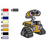 Wall E 19 embroidery design