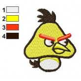 Yellow Goom Angry Bird Embroidery Design